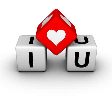 I love you (valentines day symbol) Stock Photo - 8773179