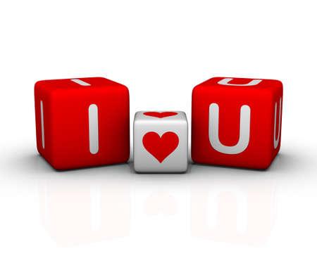 carta de amor: I love you (s�mbolo del d�a de San Valent�n)
