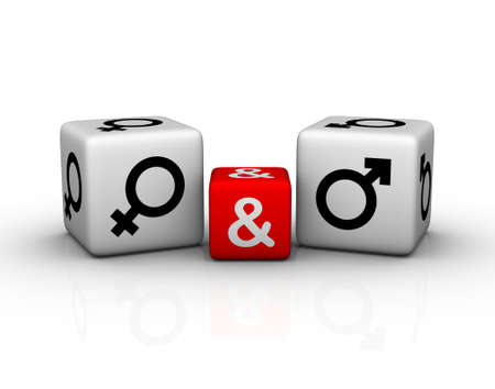 female and male symbol dice Stock Photo - 8773176