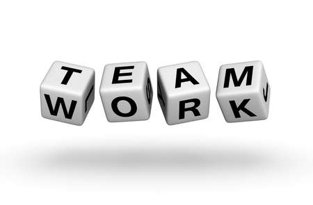buzzword: teamwork Stock Photo
