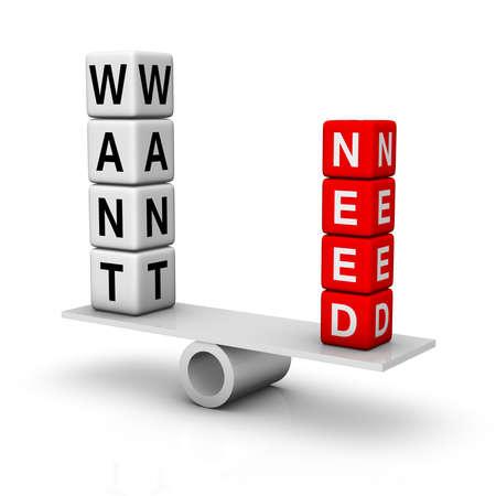 needs and wants balance Stock Photo - 8773187
