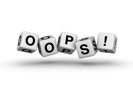 buzzword: oops error sign for web page Stock Photo