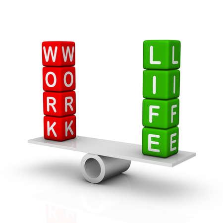 Arbeit und Privatleben Standard-Bild