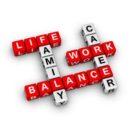 balanza en equilibrio: Trabajo y equilibrio de la vida
