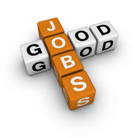 good jobs   (3D crossword orange series) photo