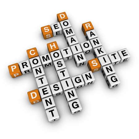 website promotion   (3D crossword orange series) photo