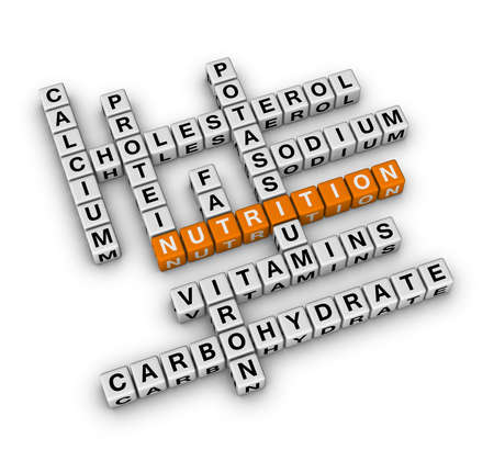 Nutrition Ingredient (3D crossword orange series) photo