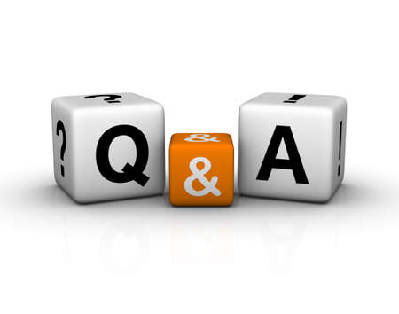 Question and Answers   (3D crossword orange series) Stock Photo - 8773202