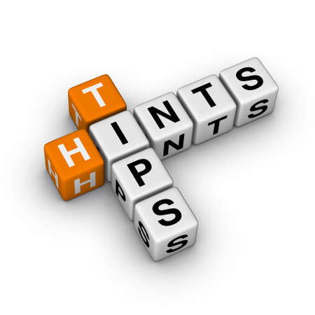 tips and hints icon  (3D crossword orange series) Stock Photo - 8773209