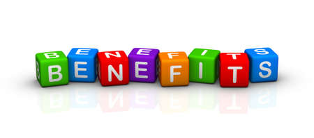 buzzword: benefits Stock Photo