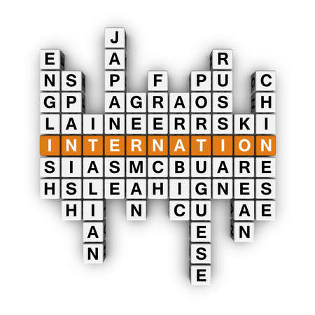 crossword: languages crossword  (3D crossword orange series)