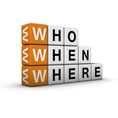 web searching   (3D crossword orange series) photo