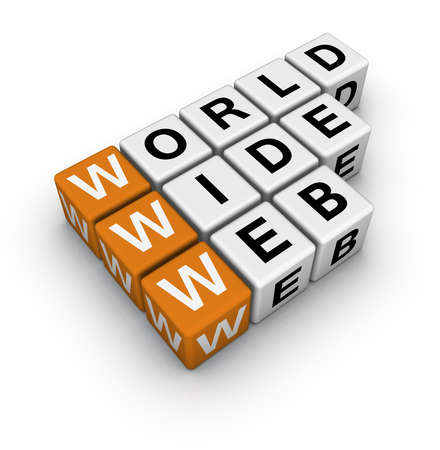 word wide web  (3D crossword orange series) Stock Photo - 9450585