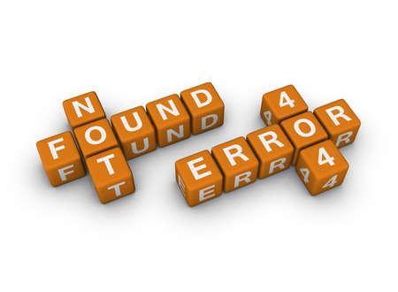 page not found  (3D crossword orange series) photo