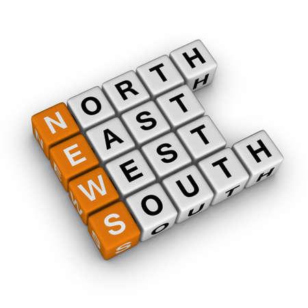 World News  (3D crossword orange series) photo