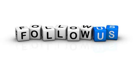 follow us! Stock Photo - 9609659