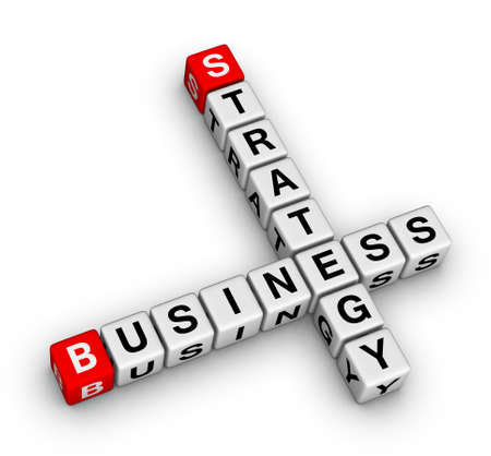 business strategy crossword Stock Photo - 9673137