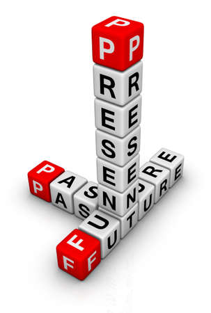 Future, Past & Present crossword Stock Photo - 9673136
