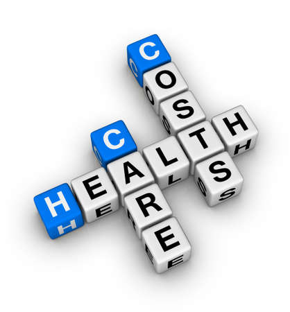 health insurance: health care costs crossword Stock Photo