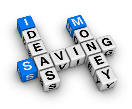 ideas saving money crossword Stock Photo - 9713561