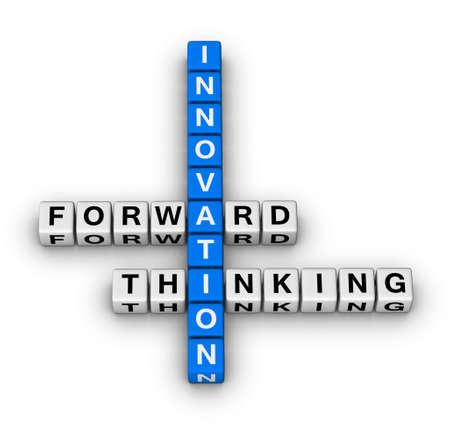 forward thinking innovation crossword puzzle Stock Photo - 9713554