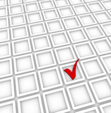 title page: Fondo de la p�gina de t�tulo con casillas de verificaci�n y la marca de verificaci�n