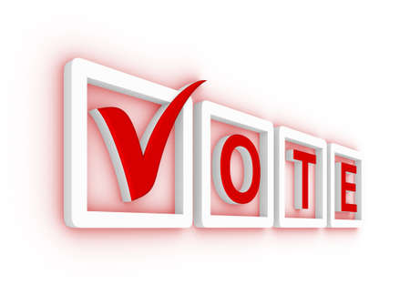 voting ballot: Vote with check mark and check boxes Stock Photo
