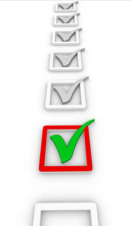 check list and green check mark Quality Control