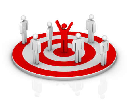 multiple targets: target Stock Photo