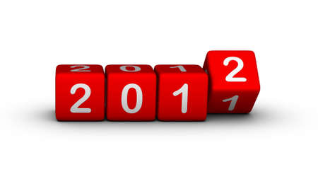 2012 year (design element for calendar, greeting cards, sales stickers) Stock Photo - 10587520