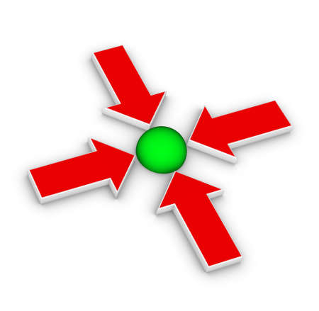 joining the dots: four arrows pointing in one direction