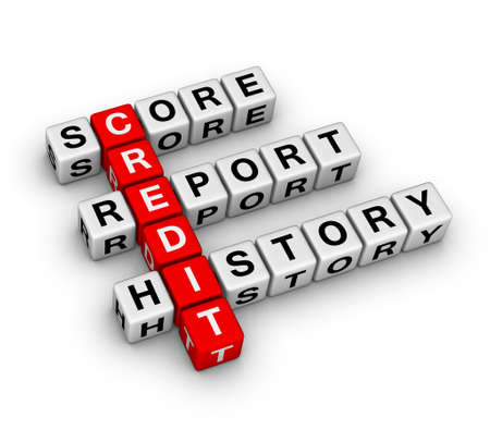 financial report: credit Stock Photo