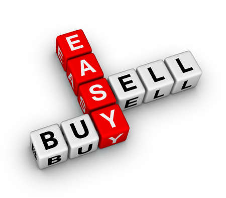 buy sell: easy trading Stock Photo