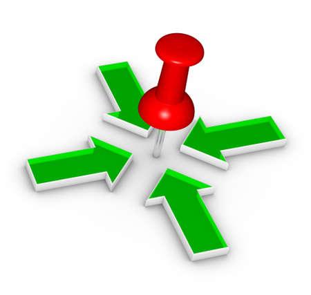 thumbtack: Thumbtack and arrows