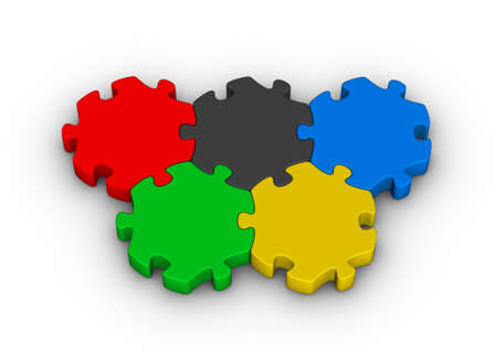color jigsaw puzzles olympic rings (knowledge competition) photo
