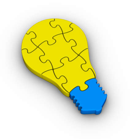 jigsaw puzzle light bulb icon photo