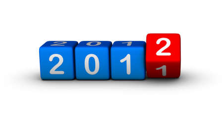 2012 year (design element for calendar, greeting cards, sales stickers) photo