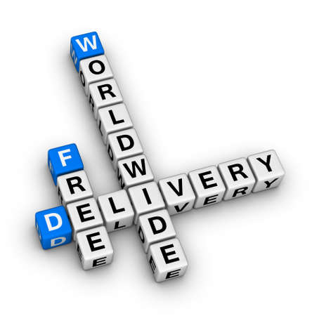 free delivery label for online store photo