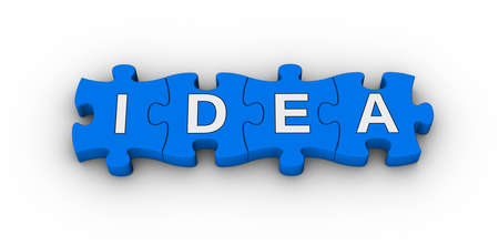 tips: idea word on jigsaw puzzle Stock Photo