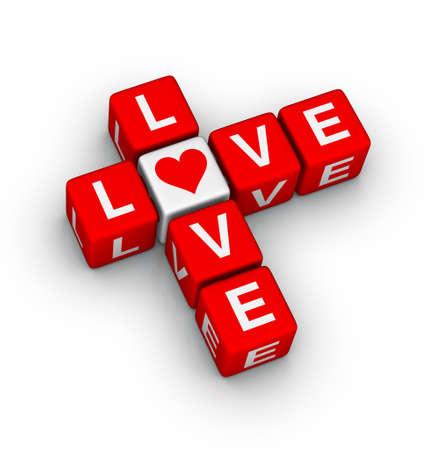 love crossword (design element for valentines day ) Stock Photo - 11866205