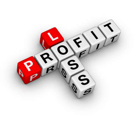 loss and profit crossword puzzle Stock Photo - 11866199