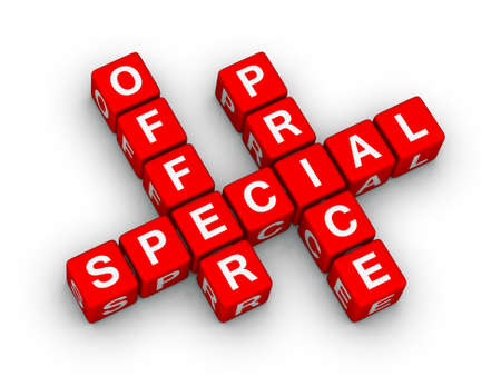 special offer and price (sales sign) photo