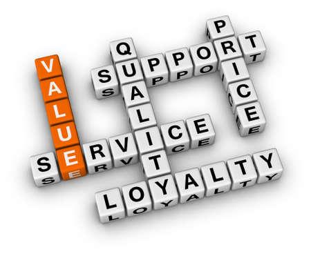 wartości: organizacja krzyżówka biznesu podstawa Zdjęcie Seryjne