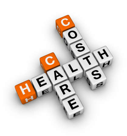 health issue: health care costs crossword Stock Photo