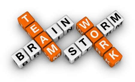Brainstorming und Teamwork Standard-Bild - 12374284
