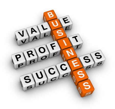 wartości: podstawÄ… krzyżówka biznesu Zdjęcie Seryjne