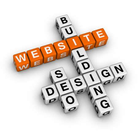 website words: website building Stock Photo