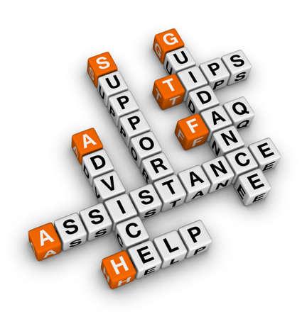 Hulp en ondersteuning kruiswoordraadsel