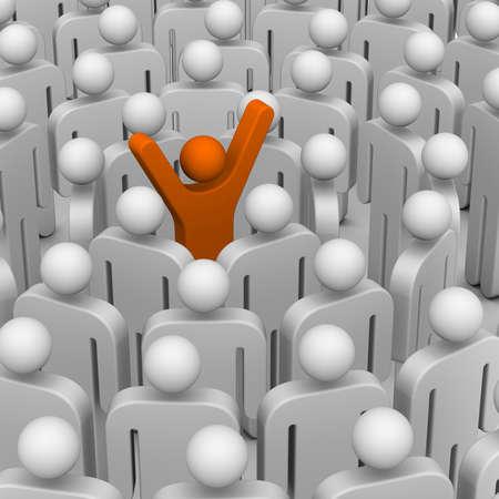 多くの人々 のリーダーのまわり