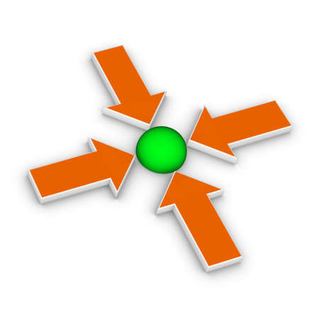 positioning: four arrows pointing in one direction